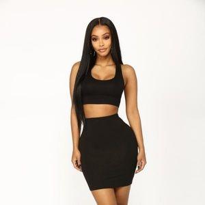 Sky high skirt set ( accepting offers)!!!!